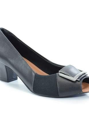 Sapato Peep Toe Usaflex Dark Blue Q6672/41