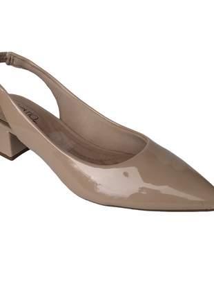 Sapato Scarpin Salto Grosso Conforto Beira Rio Nude 4182.105
