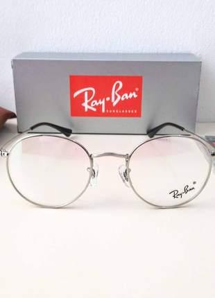 Armação óculos ray ban redondo round metal unissex 3 cores disponivel