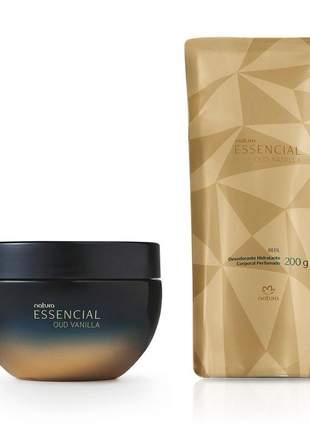 Kit desodorante hidratante corporal essencial oud vanilla