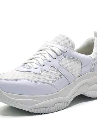 Tênis feminino esportivo caminhada branco