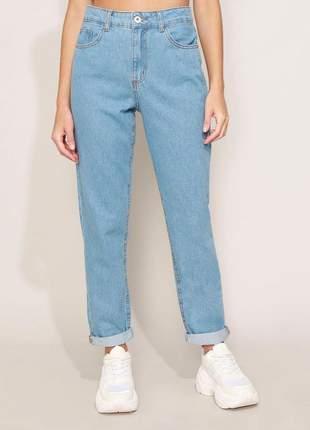 Calça jeans feminina mom cintura super alta