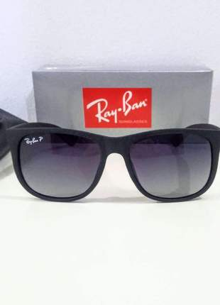 Óculos de sol ray ban justin rb 4165 polarizado unissex 6 cores disponivel