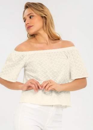 Blusa feminina ciganinha off white bordada 6157515022