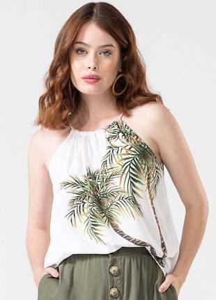 Blusa de alça coqueiros off white e13944022
