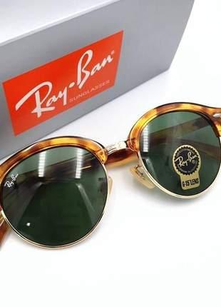 Óculos de sol ray ban clubround rb 4246 unissex 2 cores disponível
