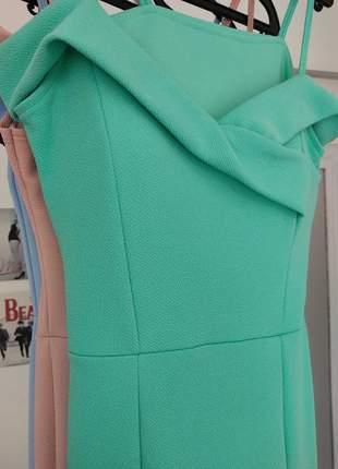 Vestido madrinha de casamento noivas festa azul marsala verde nudelongo