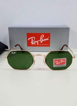Óculos de sol ray ban octagonal rb 3556 unissex 6 cores disponível
