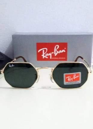 Óculos de sol ray ban octagonal rb 3556 unissex 2 cores disponível