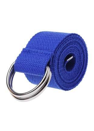 Cinto de lona 2 fivelas ref:142 (azul-royal)