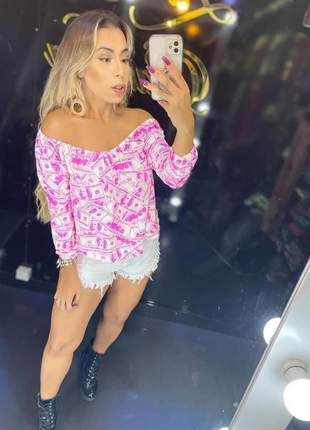 Blusa ciganinha blusa feminina manga longa