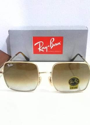 Óculos de sol ray ban square rb 1971 quadrado unissex marrom degradê