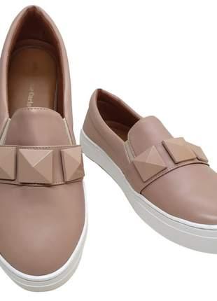 Tenis feminino sapatenis slip on spike alpargata sapatilha casual cores confort 33 a 40
