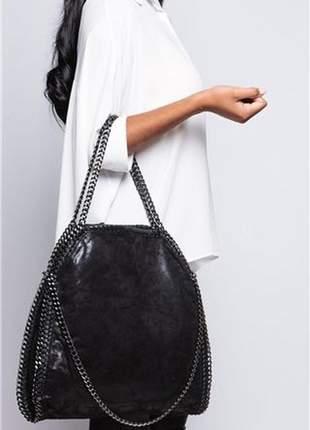 Bolsa stella com alça de corrente, duas formas de usar!