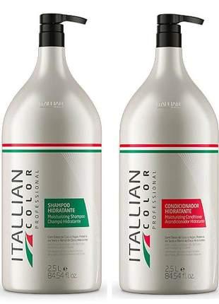 Kit lavatório itallian color profissional shampoo e condicionador 2,5lt
