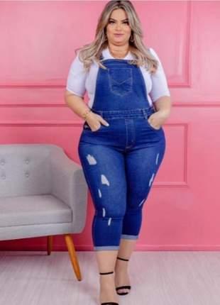 Salopete capri jeans plus size