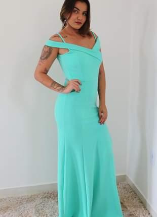 Vestido de festa tiffany madrinha de casamento formatura eventos convidadas