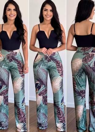 Calça pantalona luxo