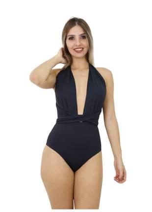 Body maiô feminino multi uso varias  amarrações diferentes costa aberta modelo flex