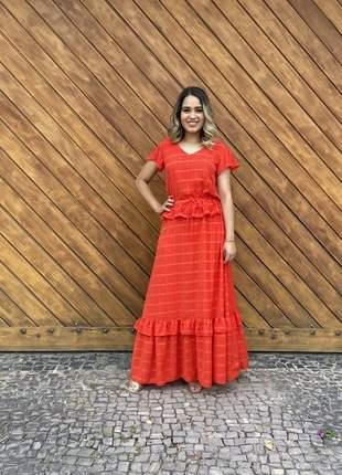 Vestido realeza pitanga