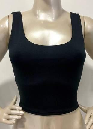 Blusa cropped basico poliamida