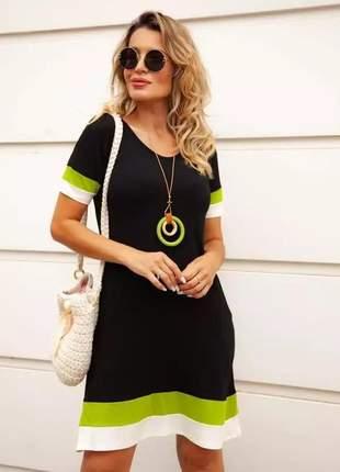 Vestido curto 3 cores