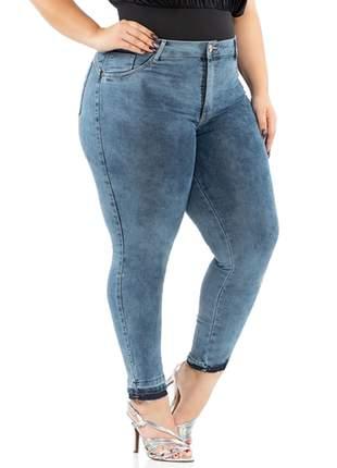 Calça Biotipo Jeans Feminina Skinny Midi Plus Size Ref.26832