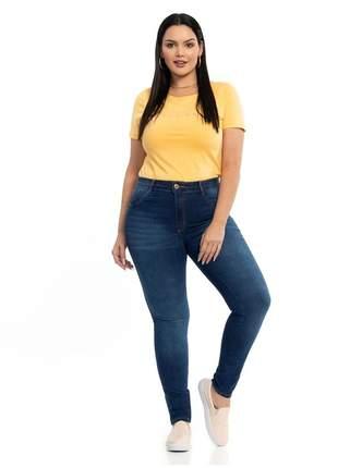 Calça biotipo jeans feminina skinny plus size ref.27482