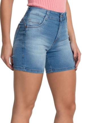 Bermudas Jeans Claro Short Meia Coxa  27731 Feminina Biotipo