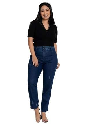 Calça jeans feminina biotipo mom plus size ref 27555