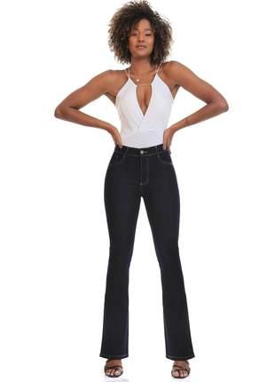 Calça Sawary Jeans Flare Com Elastano feminina 267642