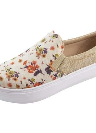 Slip on flatform di stefanni floral com linhão