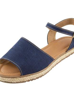 Sandália c/ corda di stefanni jeans escuro