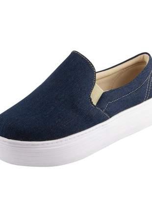 Slip on flatform di stefanni jeans escuro