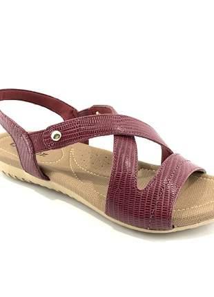 Sandália Usaflex Conforto Couro Rebu R1804