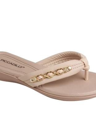 Chinelo Piccadilly Areia/Creme 500232-8