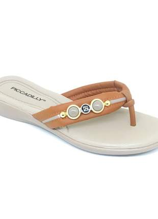 Chinelo Piccadilly Caramelo/Areia 500233-6