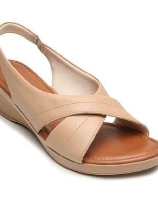 Sandália Usaflex Conforto Bege AC0404