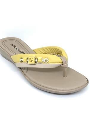 Chinelo Piccadilly DBY Sof Amarelo/Marfim 500198