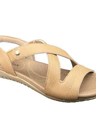 Sandália Usaflex Conforto Galapagos Camel R1804