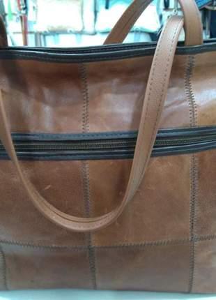 Bolsa de couro legítimo 100% produzidas artesanalmente