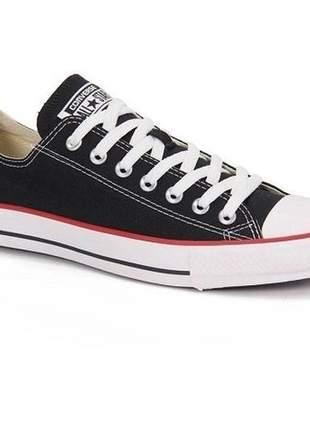 Tênis Converse All Star Preto/Vermelho/Preto CT00010007