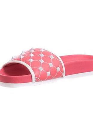 Slide butique de sapatos rose com spikers