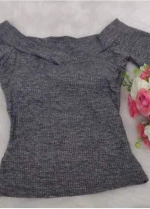 Blusinha feminina manga curta  blusa ombro a ombro bojo