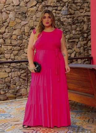 Vestido longo feminino plus size