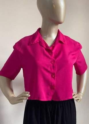 Cropped viscose blusa curta