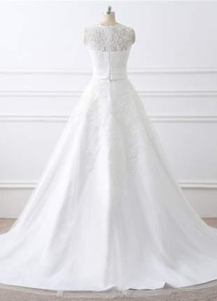 Vestido de noiva casamento top double  2 em 1