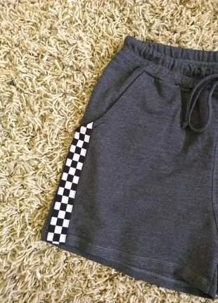 Kit 03 shorts verão 2019 em moletinho e faixas laterais lindos demais
