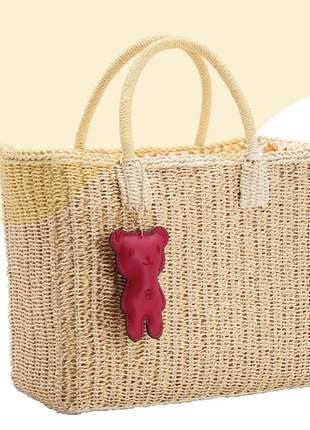 Bolsa de palha praia feminina chenson promoção