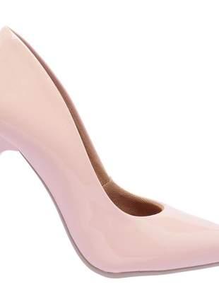 Sapato social feminino scarpins rosa salto alto fino